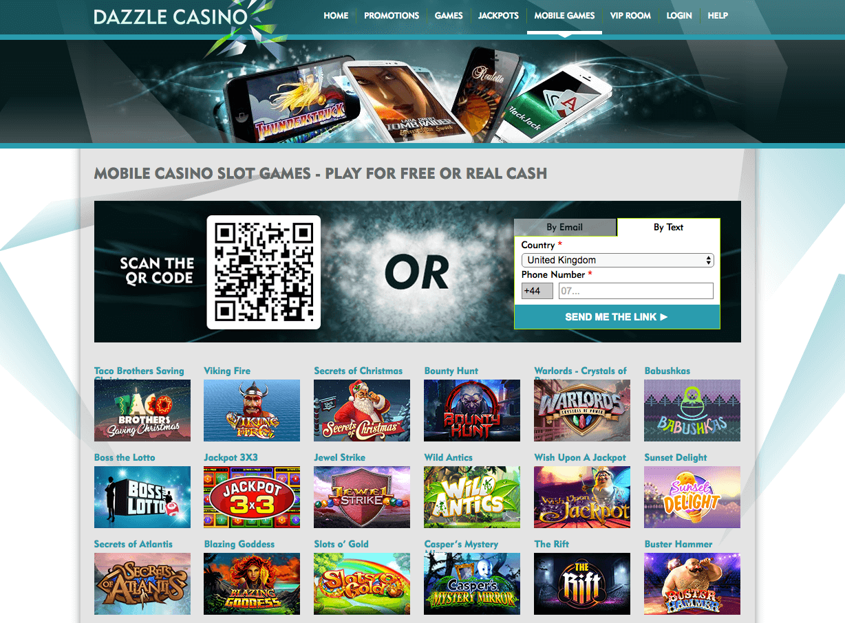 dazzle casino pay by phone