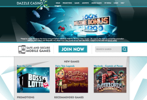 dazzle casino page pay by phone casino