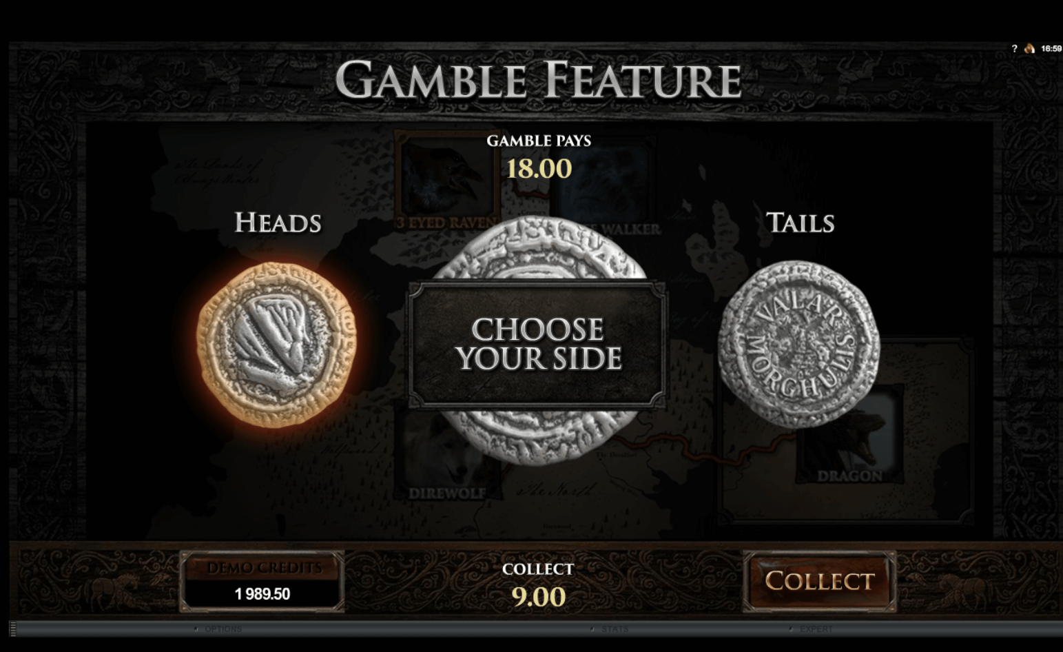 Features Game of Thrones Slot