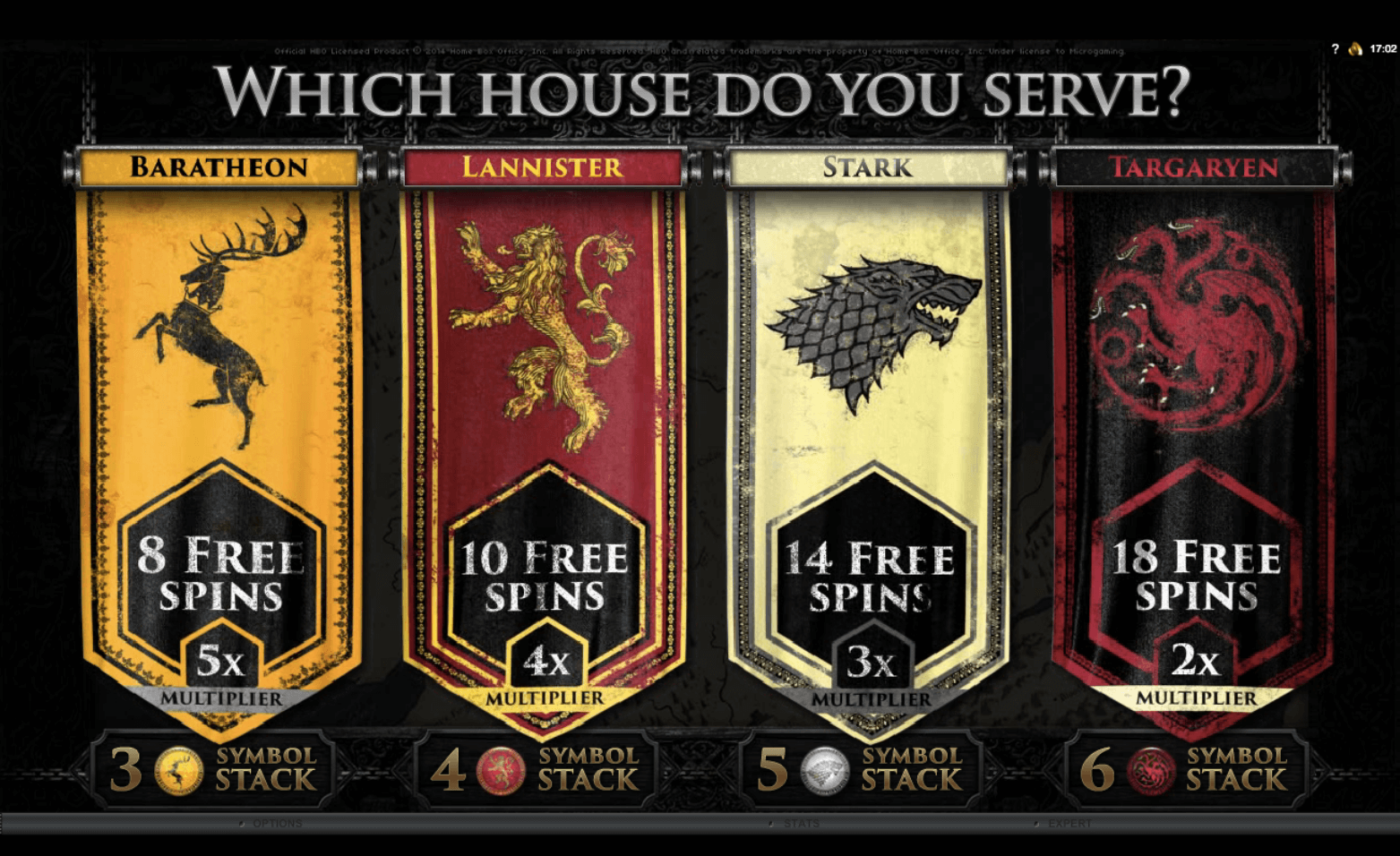 free spins Games of throne slot