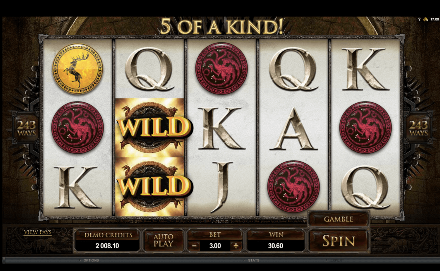 game look Games of throne slot