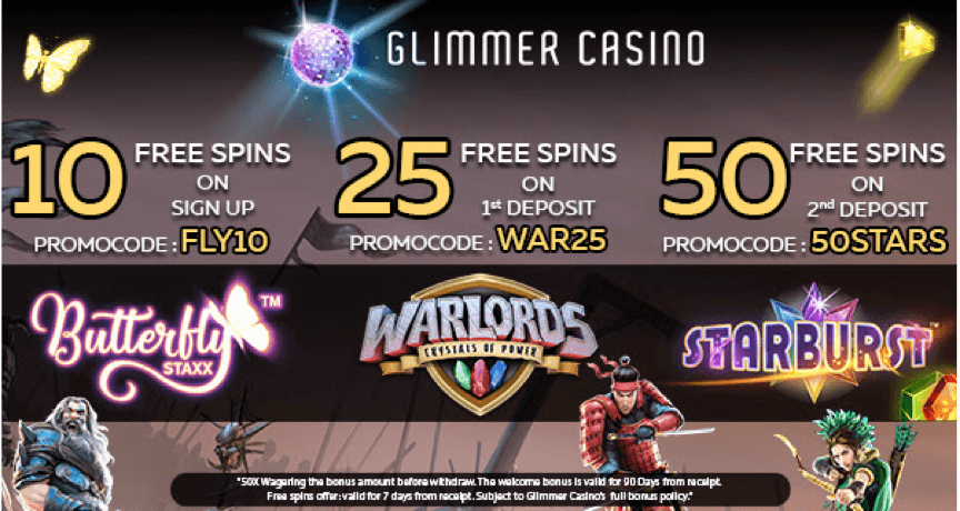 free spins July Glimmer Casino