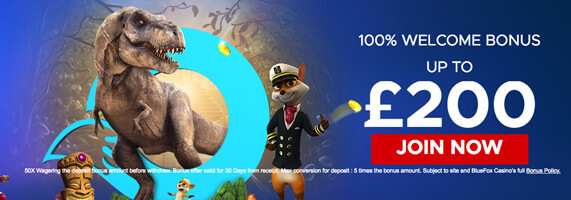 welcome offer bluefox casino